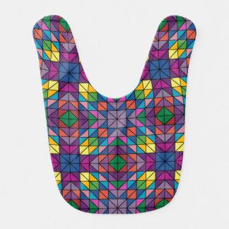 Multicolor mosaic baby bib