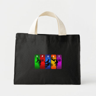 Multicolor Motocross Emblem Mini Tote Bag