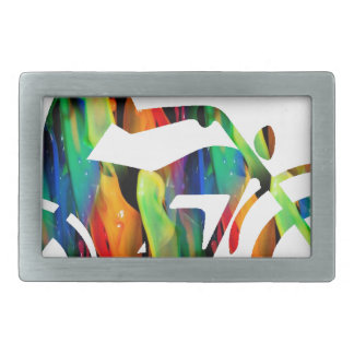 MULTICOLOR MOTORCYCLE PRODUCTS RECTANGULAR BELT BUCKLES