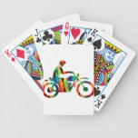 MULTICOLOR MOTORCYCLE PRODUCTS POKER CARDS