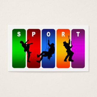 Multicolor Mountain Climbing Emblem Business Card