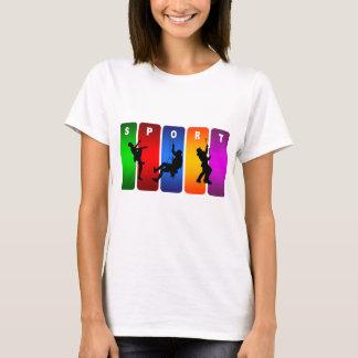 Multicolor Mountain Climbing Emblem T-Shirt