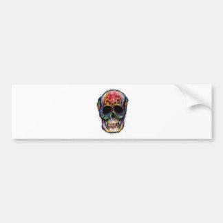 """multicolor muerte"" Mexican Skull Pegatina Para Auto"