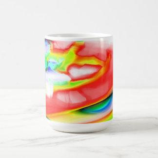 multicolor mug basic white mug