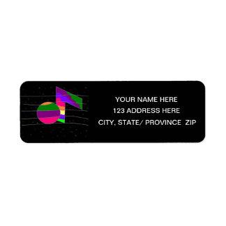 Multicolor Musical Note  Return Address Label