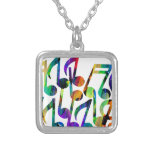 MULTICOLOR MUSICAL NOTES PRODUCTS PENDANT