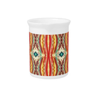 Multicolor Nativ American Abstract Art Pattern Drink Pitcher