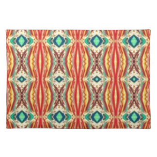Multicolor Nativ American Abstract Art Pattern Place Mat