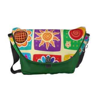 Multicolor, niños, mariposas, sol, corazones, bolsas de mensajeria
