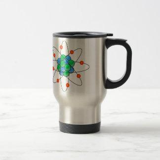 Multicolor nuclear atom taza de viaje