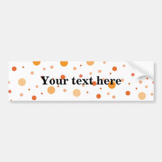 Multicolor orange polka dots bumper sticker