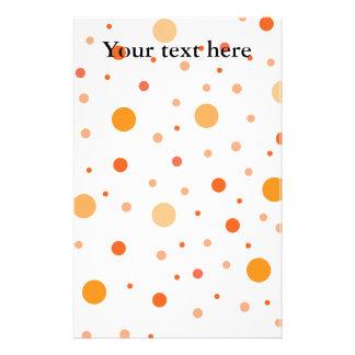Multicolor orange polka dots personalized stationery