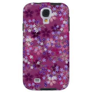 Multicolor Oriental Floral Pattern #6B Galaxy S4 Case