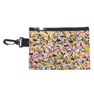 Multicolor Paint Splatter Accessory Bag