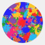 Multicolor Paint Splatter Sticker