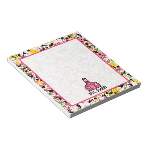 Multicolor Paint Splatter Teacher Notepad