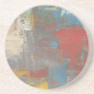 Multicolor Painterly Sandstone Coaster