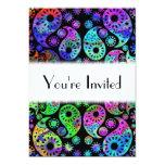 Multicolor Paisley Design. 5x7 Paper Invitation Card