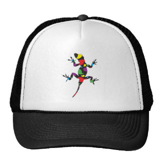 Multicolor Paisley Gecko Trucker Hats