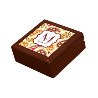 Multicolor Paisley Monogram Gift Box