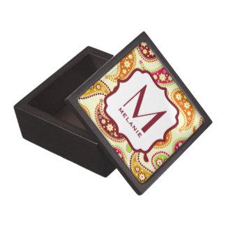 Multicolor Paisley Monogram Premium Gift Box