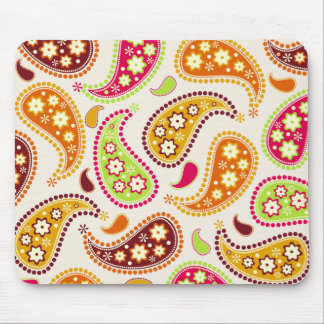 Multicolor Paisley Mousepad