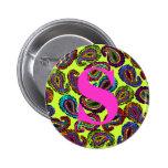 Multicolor Paisley Pin