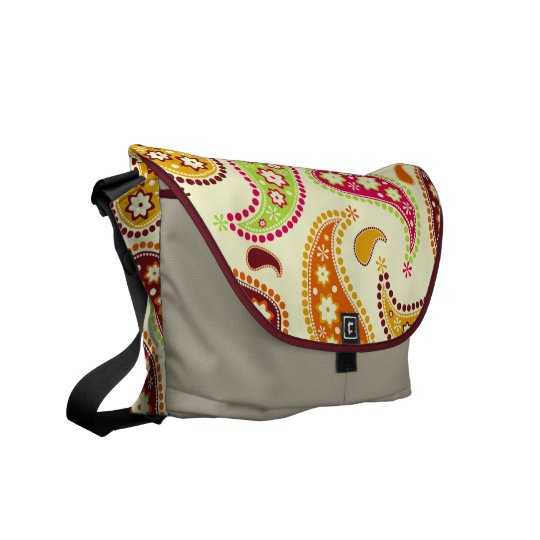 Multicolor Paisley Rickshaw Messenger Bag