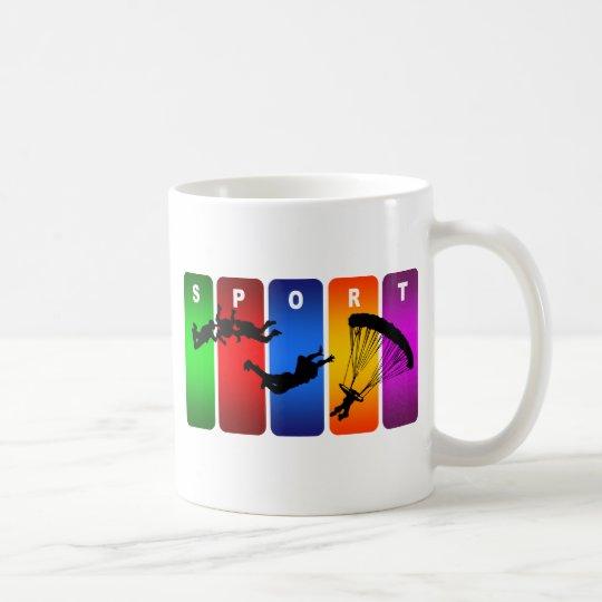Multicolor Parachuting Emblem Coffee Mug