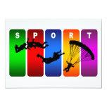 Multicolor Parachuting Emblem Custom Announcement