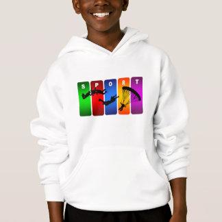 Multicolor Parachuting Emblem Hoodie
