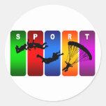 Multicolor Parachuting Emblem Sticker