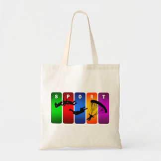 Multicolor Parachuting Emblem Tote Bag