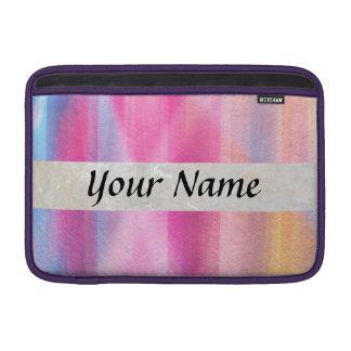 Multicolor pastel MacBook air sleeve