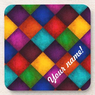 Multicolor Patchwork Pattern Drink Coaster