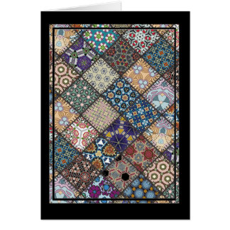Multicolor patchwork pattern Gift Item Card