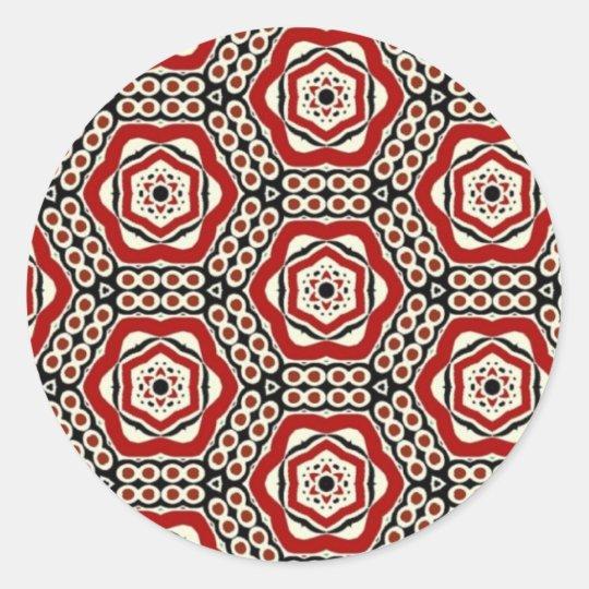 Multicolor pattern classic round sticker