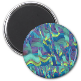 Multicolor pattern Gift Item 2 Inch Round Magnet