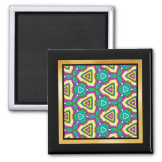 Multicolor pattern Gift Item 2 Inch Square Magnet