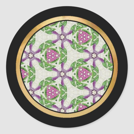 Multicolor pattern Gift Item Classic Round Sticker
