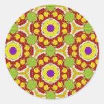 Multicolor pattern Gift Item Round Sticker