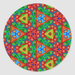 Multicolor pattern Gift Item Round Stickers