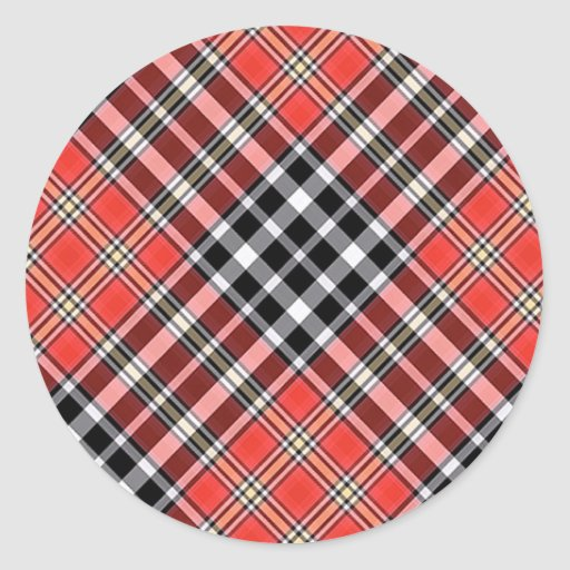 Multicolor pattern Gifts Classic Round Sticker