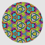 Multicolor pattern Gifts Round Sticker