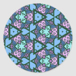 Multicolor pattern Gifts Round Stickers