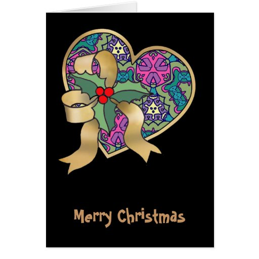 Multicolor pattern greeting card