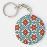 Multicolor pattern key chain