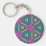 Multicolor pattern key chains