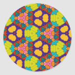 Multicolor pattern round sticker