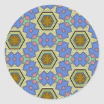 Multicolor pattern round stickers
